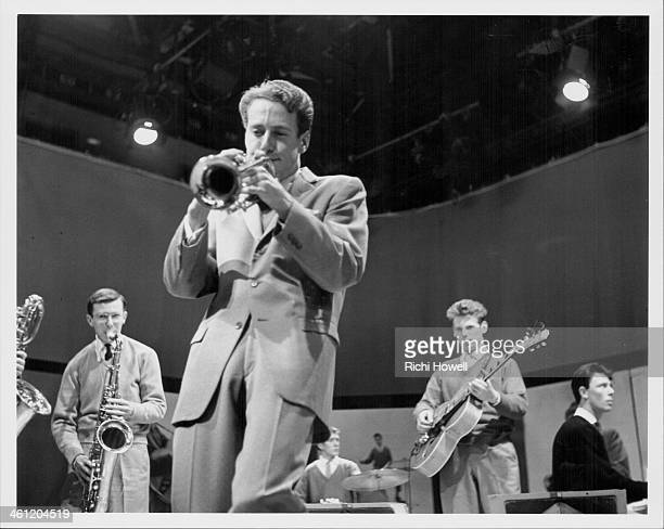 The John Barry Seven band including pianist Les Reed performing on the BBC television show 'Drumbeat' 1959