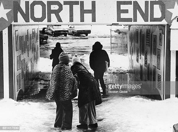 The John F Fitzgerald Expressway underpass in Boston's North End fills with water causing problems for pedestrians on Dec 26 1975