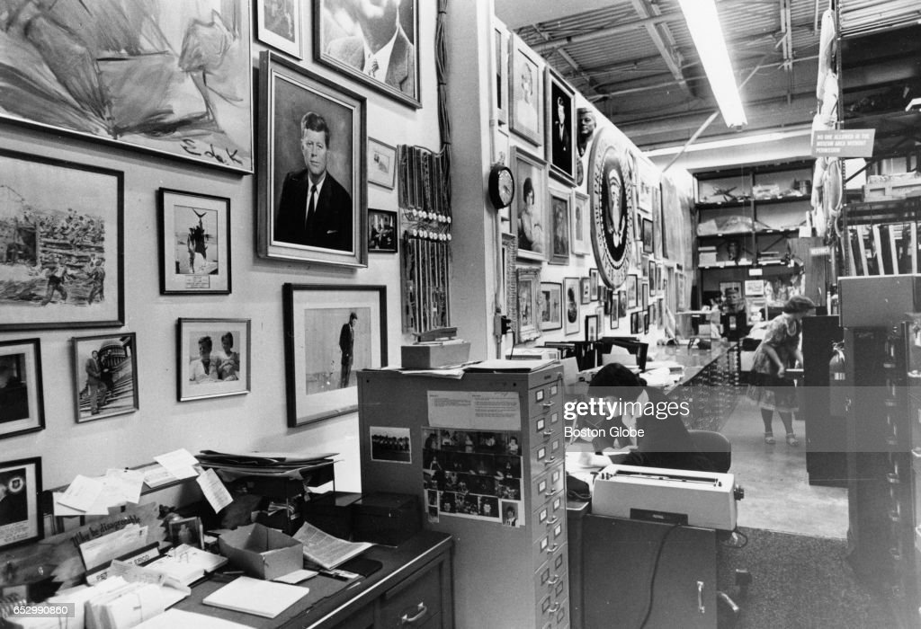 The John F. Kennedy Library in Waltham, Mass., August 1979. [date estimated to month]
