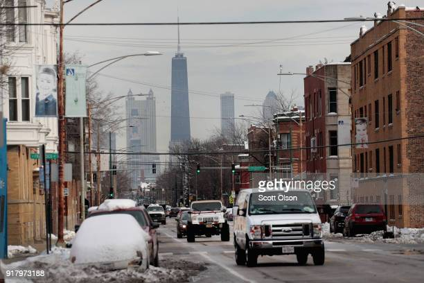 The John Hancock Center one of Chicago's most famous skyscrapers is changing its name on February 13 2018 in Chicago Illinois John Hancock Financial...