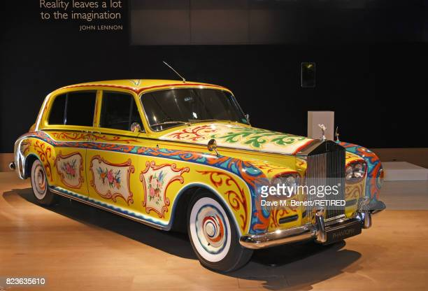 The John Lennon RollsRoyce Phantom is displayed at the world premiere of the 'The Great Eight Phantoms A RollsRoyce Exhibition' at Bonhams on July 27...