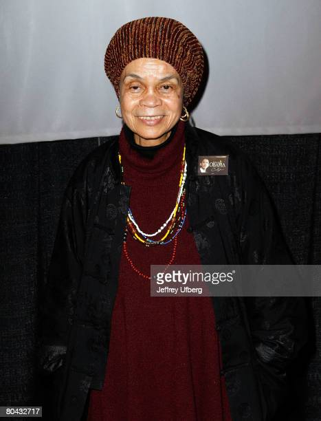 The John Oliver Killens Lifetime Literary Award Recipient Sonia Sanchez poses for an image during the VIP Reception during the 9th National Black...