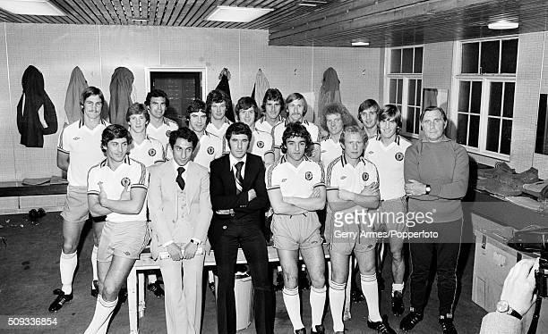 The John Robson International XI in the dressingroom at Villa Park prior to the John Robson Testimonial match against Aston Villa 30th October 1978...