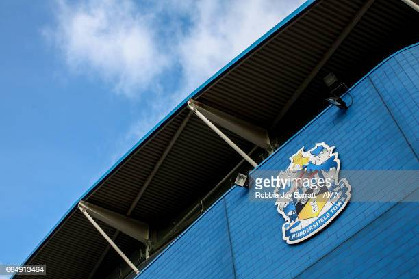 The John Smiths Stadium home stadium of Huddersfield Town prior to the Sky Bet Championship match between Huddersfield Town and Norwich City at John...
