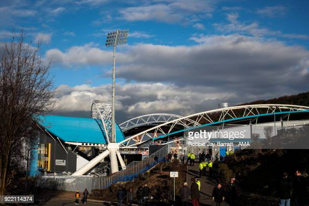 The John Smiths Stadium home stadium of Huddersfield Town prior to the Emirates FA Cup Fifth Round match at The John Smiths Stadium on February 17...