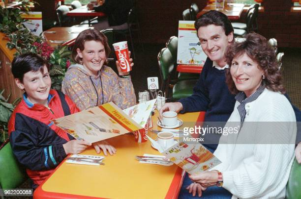 The Johnson family enjoying their meal at the Happy Eater Near Belbroughton Mr Mark Johnson Mrs Joy Johnson and their children Philip and Ruth 16th...