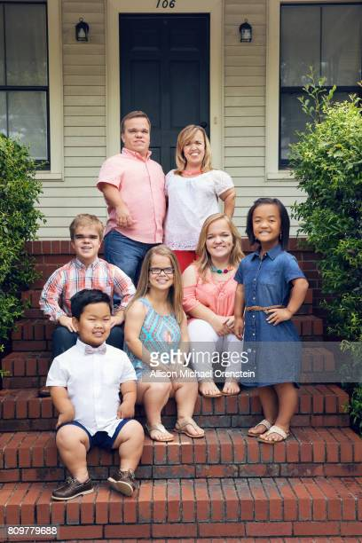The Johnstons are photographed for People Magazine on April 28 2017 in Forsyth Georgia
