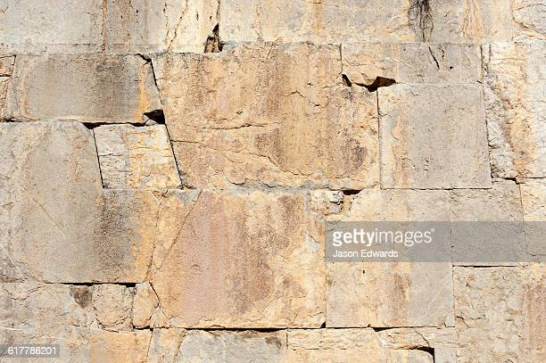 The joins in the stone masonry on the main platform at Persepolis.
