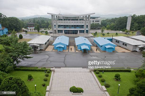 The Joint Security Area of the DMZ from the North Korean side