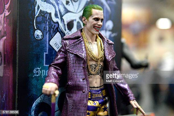 The Joker from 'Suicide Squad' figurine displayed at ComicCon International 2016 preview night on July 20 2016 in San Diego California