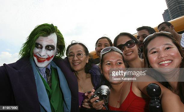 The Joker greets fans at the Chicago premiere of ''The Dark Knight'' on July 16 2008 in Chicago Illinois