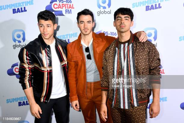 The Jonas Brothers attend the Capital FM Summertime Ball at Wembley Stadium on June 08 2019 in London England