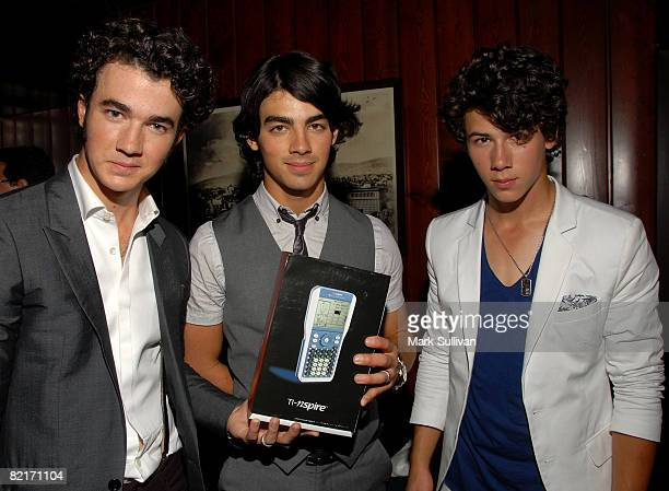 The Jonas Brothers attend the Mattel Celebrity Retreat produced by Backstage Creations at Teen Choice 2008 on August 3 2008 in Universal City...