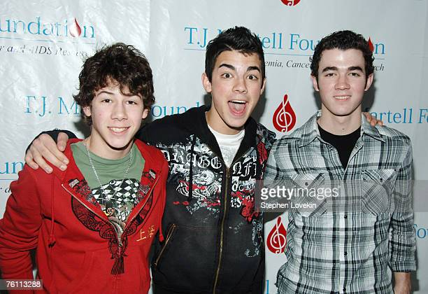 The Jonas Brothers Nick Joe and Kevin