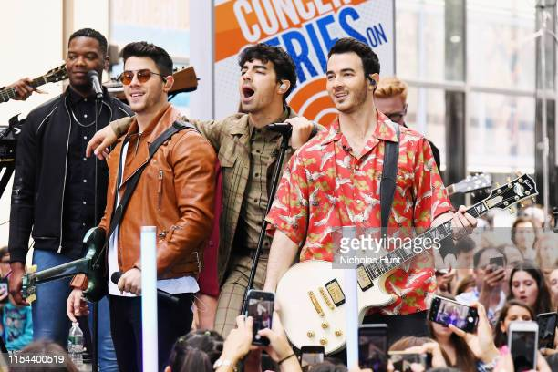 The Jonas Brothers Perfom On NBC's Today at Rockefeller Plaza on June 07 2019 in New York City