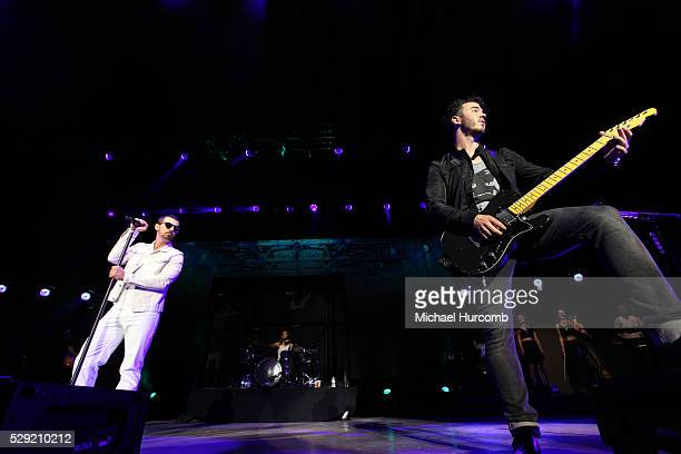 The Jonas Brothers perform at the Molson Amphitheatre in Toronto Canada July 18th 2013