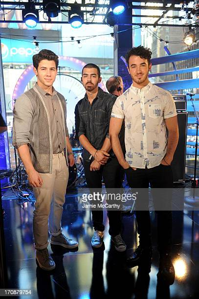 The Jonas Brothers perform during the MTV VH1 CMT LOGO 2013 O Music Awards on June 19 2013 in New York City
