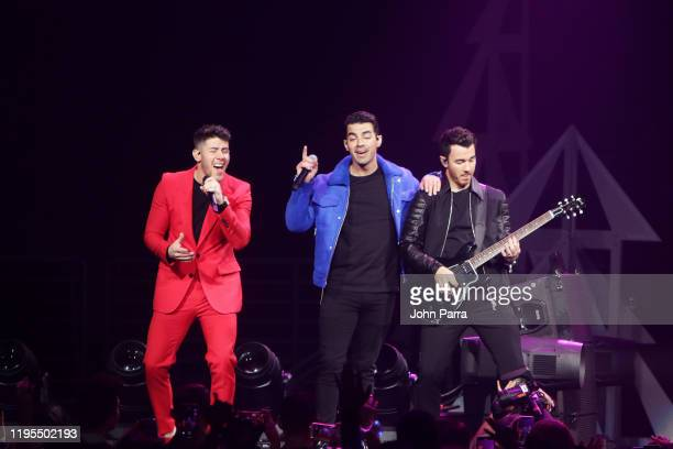 The Jonas Brothers perform on stage during Y100's Jingle Ball 2019 Presented by Capital One at BB&T Center on December 22, 2019 in Sunrise, Florida.
