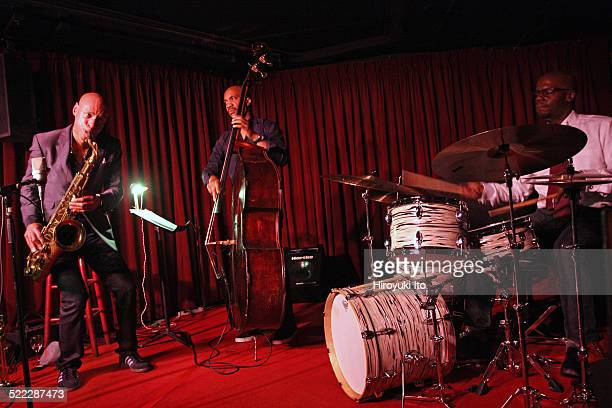 The Joshua Redman Trio performing at the Village Vanguard on Tuesday night October 28 2014This imageFrom left Joshua Redman Reuben Rogers and Gregory...