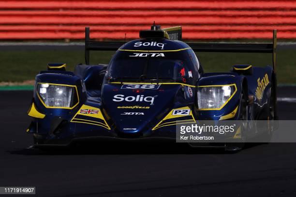The Jota Oreca - Gibson of Roberto Gonzalez and Antonio Felix Da Costa drives during the FIA World Endurance Championship race at Silverstone Circuit...