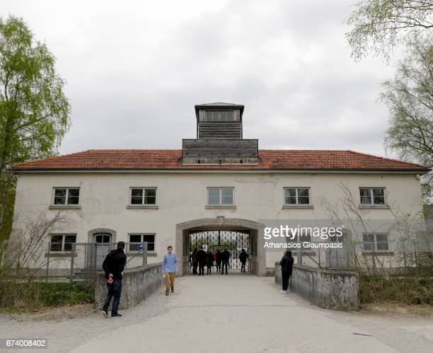 The Jourhaus building was the main exit and entrance to the prisoners camp and as the main office of the camp SS personnel on April 14 2017 in Dachau...