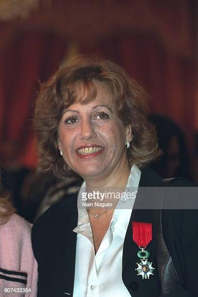 The journalist Anne Barrere was made a Chevalier de la Legion d'honneur by Jacques Chirac