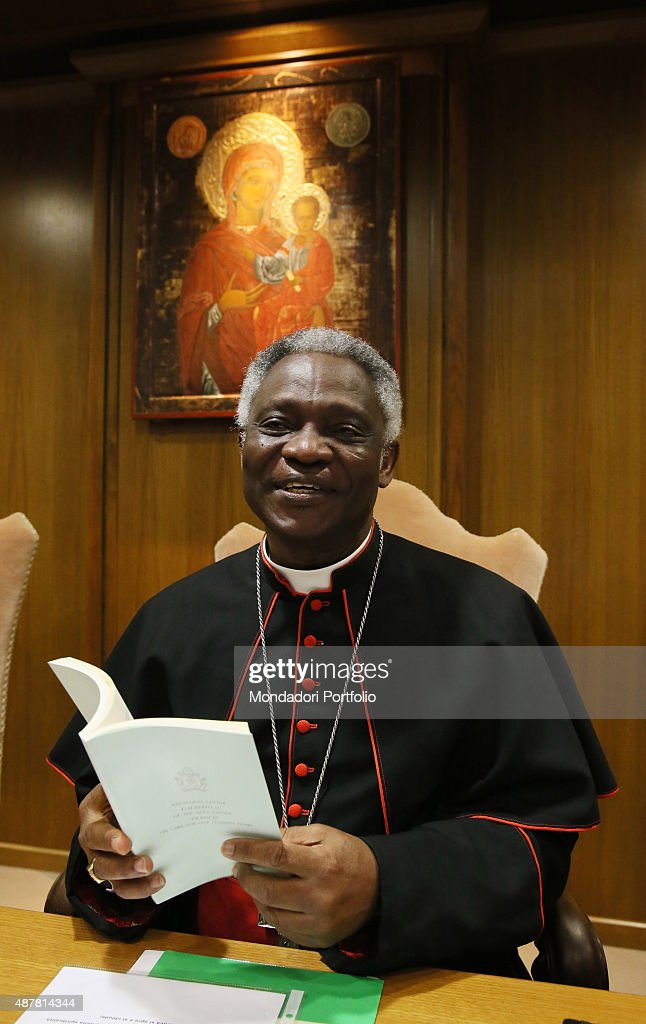 The journalists attending to the news conference for the release of Pope Francis's new encyclical. Cardinal Peter Kodwo Appiah Turkson Introducing the encyclical. Vatican City, 18th June 2015