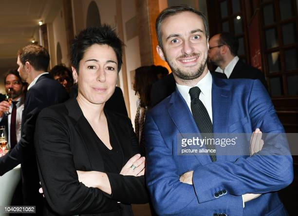 The journalists Dunja Hayali and Jan Boehermann arrive for the award ceremony of 'Journalist of the Year 2016' of 'medium magazin'in Berlin Germany...