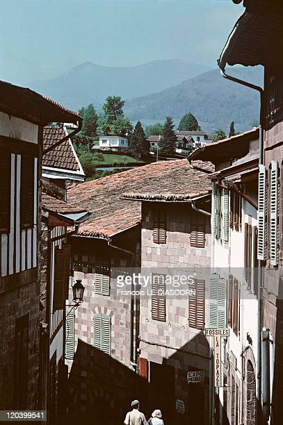 The Journey to Santiago de Compostella in Saint Jean Pied De Port, France - Saint-Jean-Pied-de-Port, a village on the edge of the Pyrenees and...