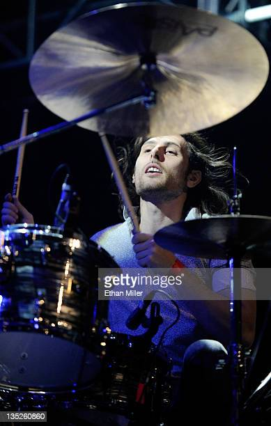 The Joy Formidable drummer Matt Thomas performs at the X1075 Holiday Havoc 2011 show at The Joint inside the Hard Rock Hotel Casino December 7 2011...