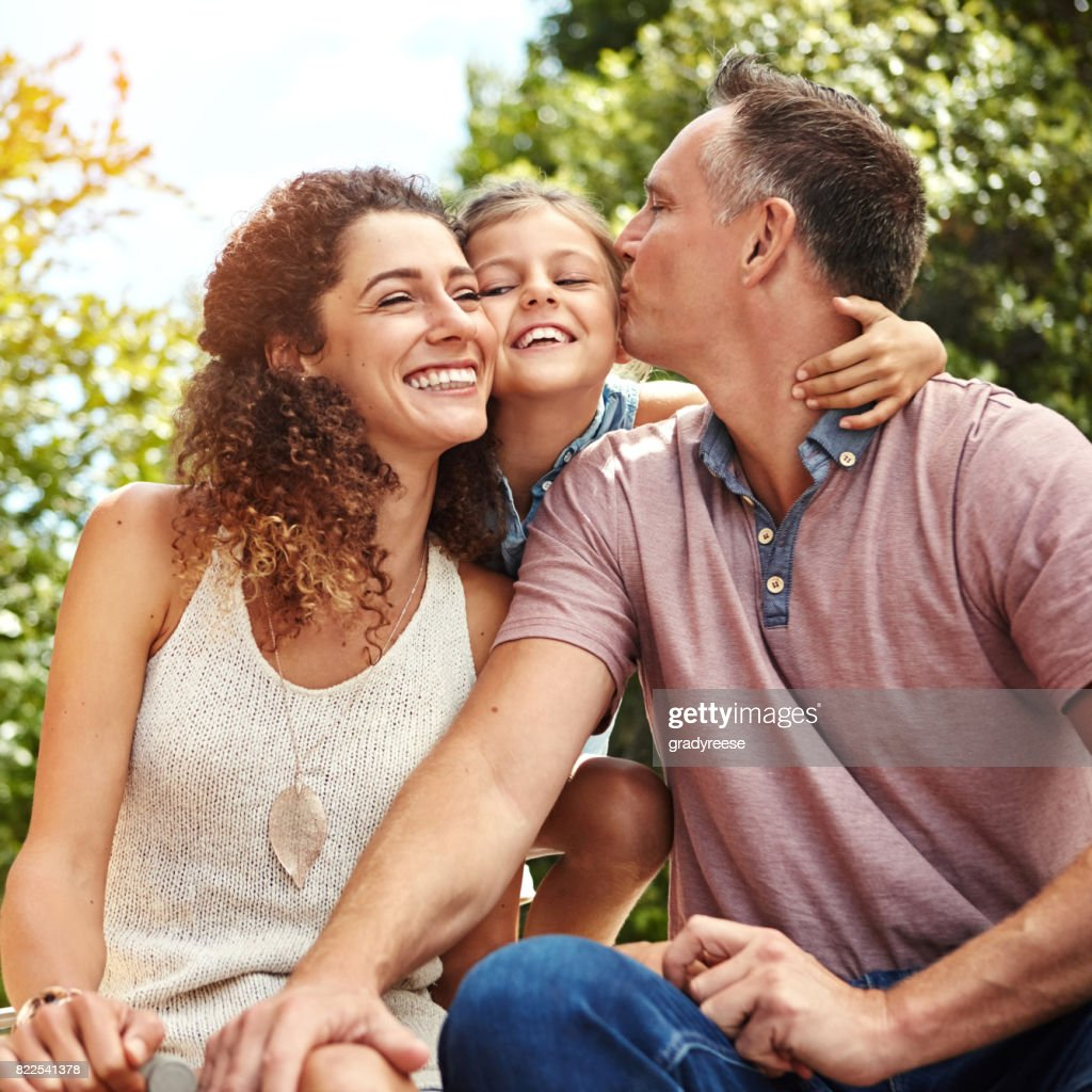 The joy of being part of a loving family : Stock Photo