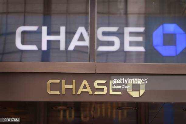 The JPMorgan Chase & Co. Logo is displayed outside the company's Chase Tower office building on July 15, 2010 in Chicago, Illinois. Today JPMorgan...
