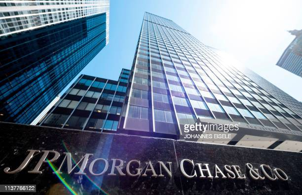 The JPMorgan Chase & Co. World headquarters are pictured on April 17, 2019 in New York City.