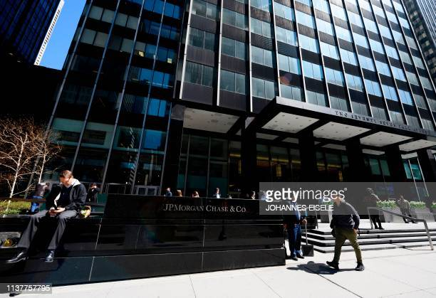 The JPMorgan Chase & Co. World headquarters is pictured on April 17, 2019 in New York City.