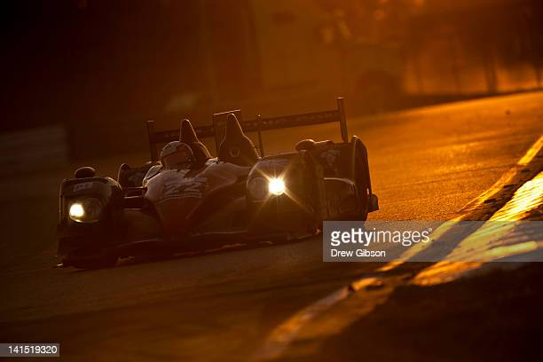 The JRM HPD ARX 03a Honda driven by David Brabham of England Karun Chandhok of India and Peter Dumbreck of Scotland during the 2012 World Endurance...