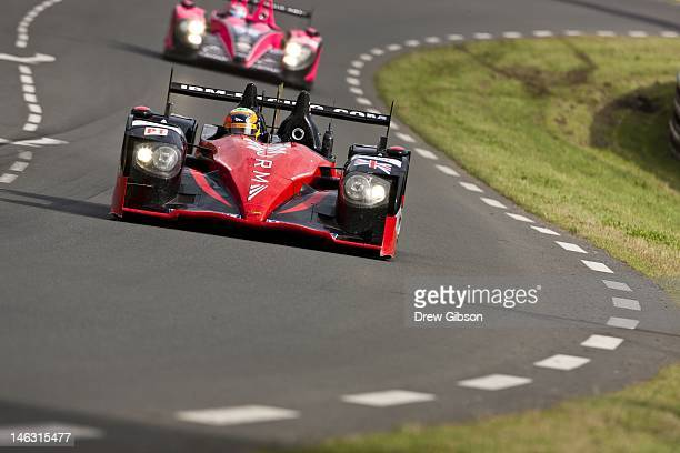 The JRM HPD ARX 03a Honda driven by David Brabham of England Karun Chandhok of India and Peter Dumbreck of Scotland during practice for the 80th...