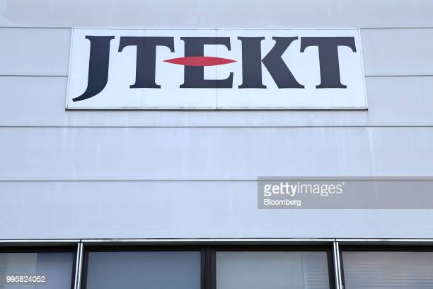 The Jtekt Corp logo is displayed atop the company's Hanazono plant in Okazaki Aichi Prefecture Japan on Tuesday July 10 2018 JTEKT will make an...