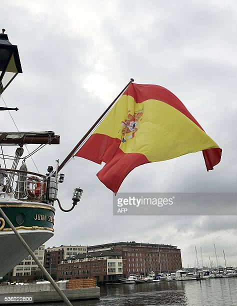 The Juan Sebastian de Elcano a school boat from the Spanish navy is anchored in Baltimore the last stop ofn it's Americas tour May 31 2016 The voyage...