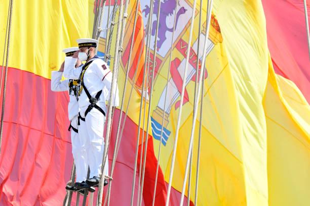 ESP: King Felipe Of Spain Receives 'Juan Sebastian De Elcano' Training Ship After Finishing Its 11th Round The World Tour