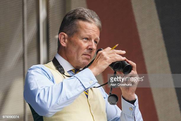 The Judge Felix Wheeler keeps an eye on things on day 2 of Royal Ascot at Ascot Racecourse on June 20 2018 in Ascot England