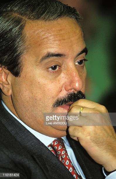 The Judge Giovanni Falcone in Palermo Italy in 1992