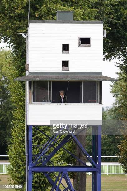 The Judge Jane Green in her judges box at Windsor Racecourse on August 12 2018 in Windsor United Kingdom