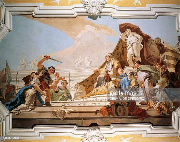 The Judgement of Solomon 17261729 by Giovanni Battista Tiepolo fresco Patriarchal Palace Red Room Udine