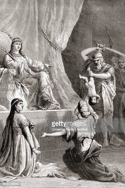 The Judgement of Solomon from The Book of Kings Old Testament From The Children's Bible published c 1883