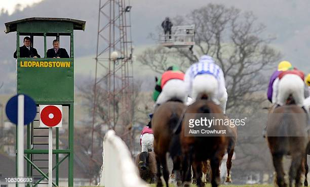 The judges box at Leopardstown racecourse on January 23 2011 in Dublin Ireland