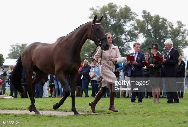 The Judges check the horses during the Trot Up on Day Four of The Land Rover Burghley Horse Trials 2017 on September 2 2017 in Stamford England
