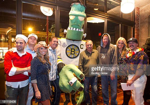 The judges from left to right Louis DiBicarri Evan Deluty Alyssya Riley John Dooley Brian Cabral Jerry Remy Jimmy Dunn Heidi Watney and Scott...