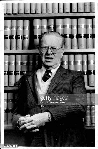 The Judges Judge Francis Hutley of the NSW court of appeal being dressed in his Robes by his tip staff Lem MaceyJustice Francis Hutley Court of...