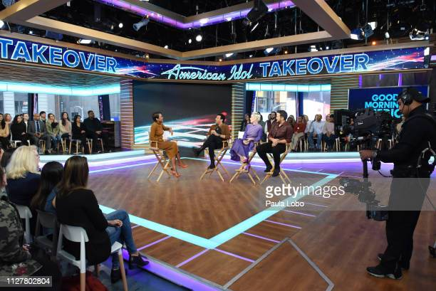 The judges of 'American Idol' are guests on 'Good Morning America' Wednesday Feb 27 airing on the ABC Television Network GMA19 ROBIN