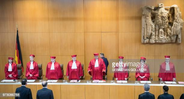 The judges of the Second Senate of the Federal Constitutional Court Christine Langenfeld Doris Koenig Peter Mueller Peter M Huber Chairman of the...